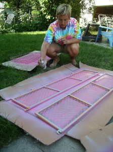 "Painting th ""Big Pink Cart"""